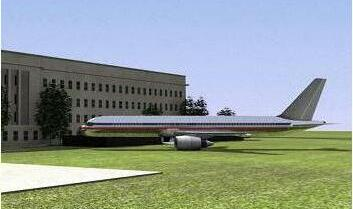 A Boeing 757-200 as it's supposed to havehit the Pentagon ...